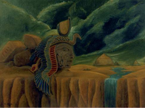 El sueño perdido (Cleopatra) - Oleo 60x80 (2000) - Daniel Dankh
