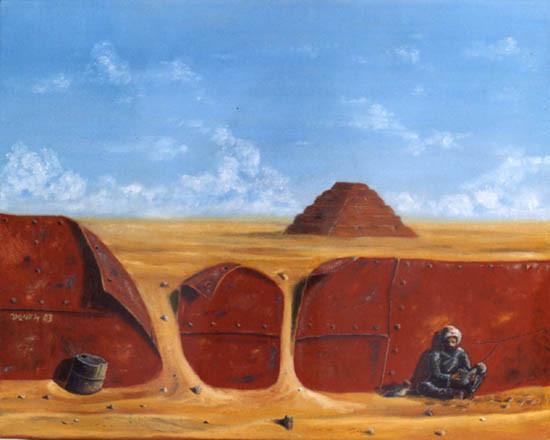 Lo Eterno y lo Efímero - Oleo 40x50 (2003) - Daniel Dankh