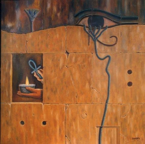 Milagro del Nilo - Oleo 90x90 (2002) - Daniel Dankh