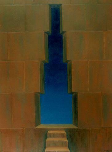 Rosetau, La puerta del Cielo - Oleo 110x80 (2000) - Daniel Dankh