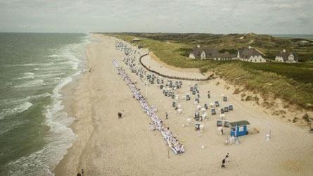 Kampen Strand, Höhe Kliffende
