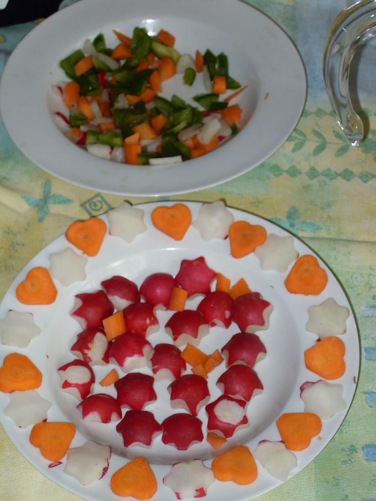 liebevoll zubereiteter Gemüseteller