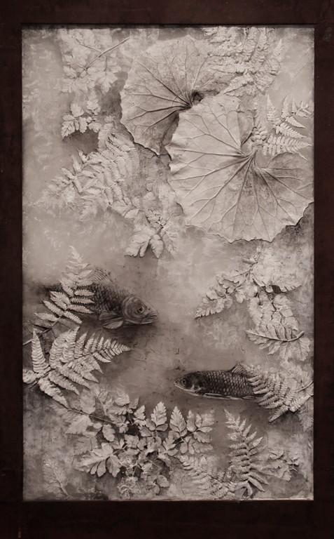 Lose my way, 2010  93×57×3cm  Kiln cast, Painted, Japanese ink, Metal