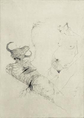 「罪深きことは何だか知っている-Paraphilia-」2008年/銅版画(エッチング、雁皮刷り)/800 x 560 mm