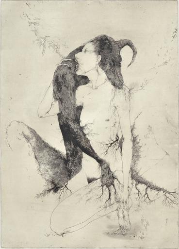 「罪深きことは何だか知っている-Sublimity-」2009年/銅版画(エッチング、雁皮刷り)/800 x 560 mm