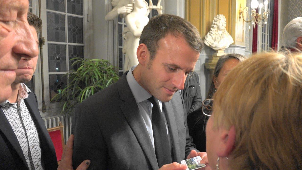 L'éditrice d'axomois.fr a évoqué la fracture numérique avec Emmanuel Macron.