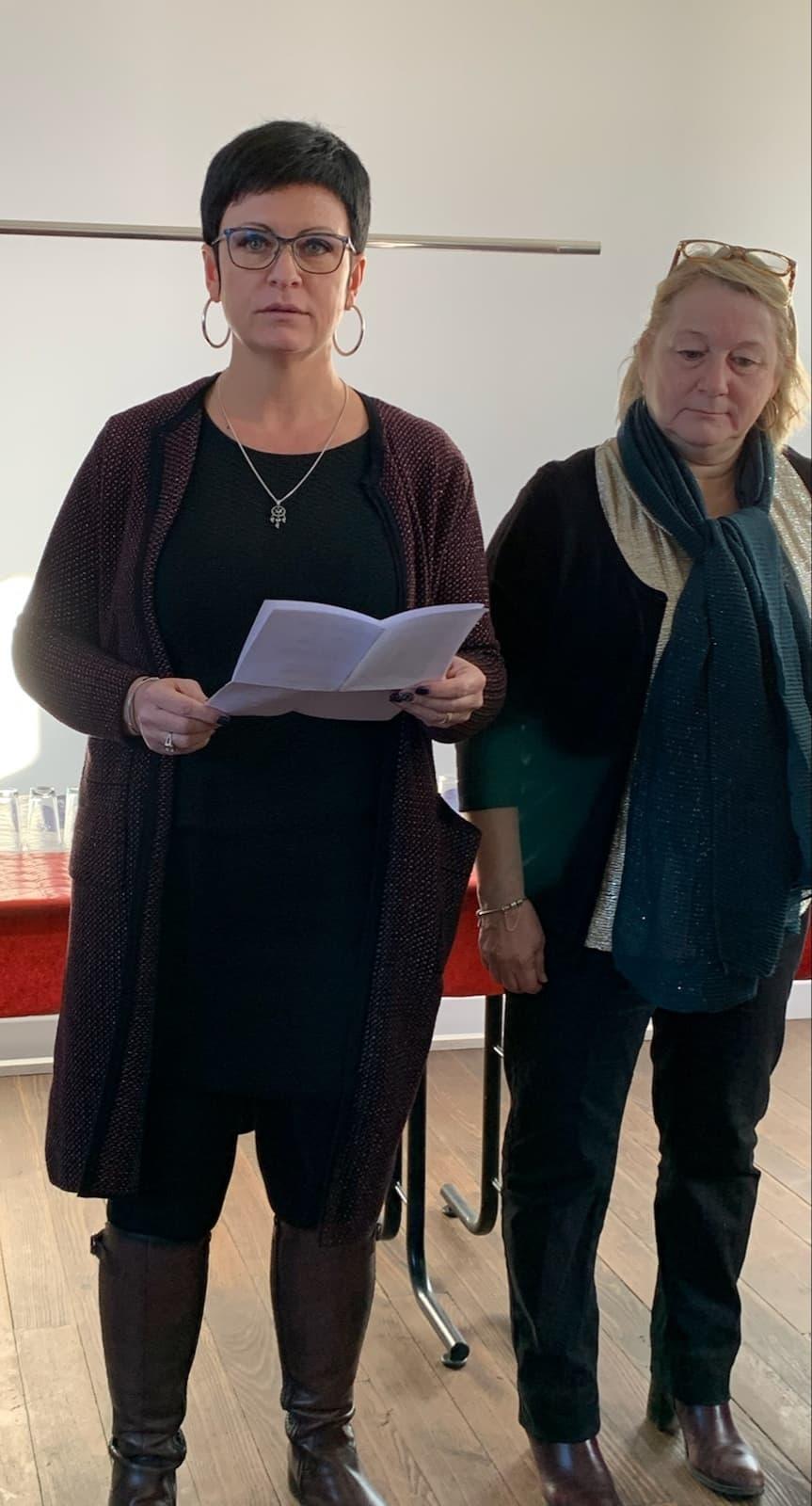 De gauche à droite : Gaëlle Vaudé, maire de Pargny-la-Dhuys, et Annie Touzé, seconde adjointe.