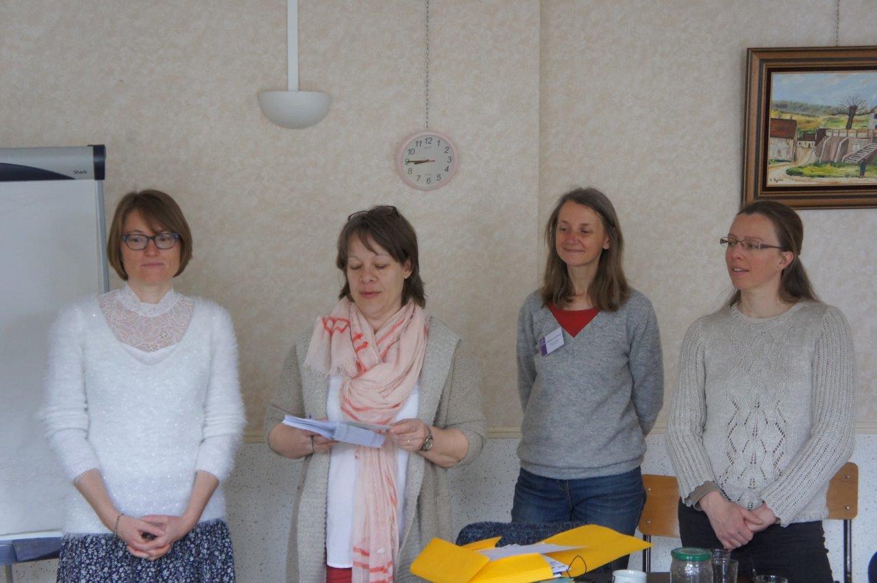 De gauche à droite : Nelly Triconnet, Sandrine Viet, Catherine Lawnizack et Laetitia Morel.