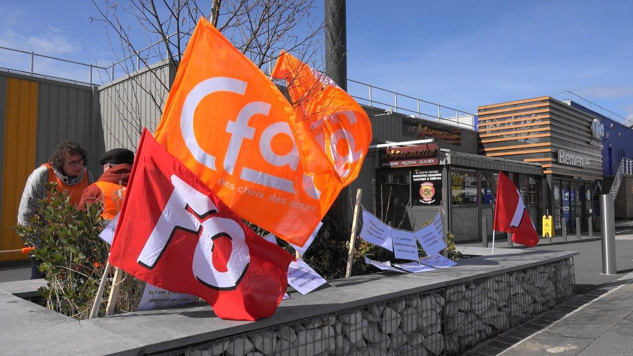 A Château-Thierry, les syndicats CFDT et FO sont, ensemble, dans la lutte.