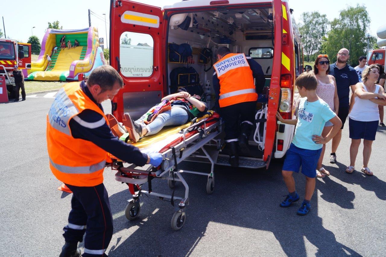 ... et évacuée vers un centre hospitalier.