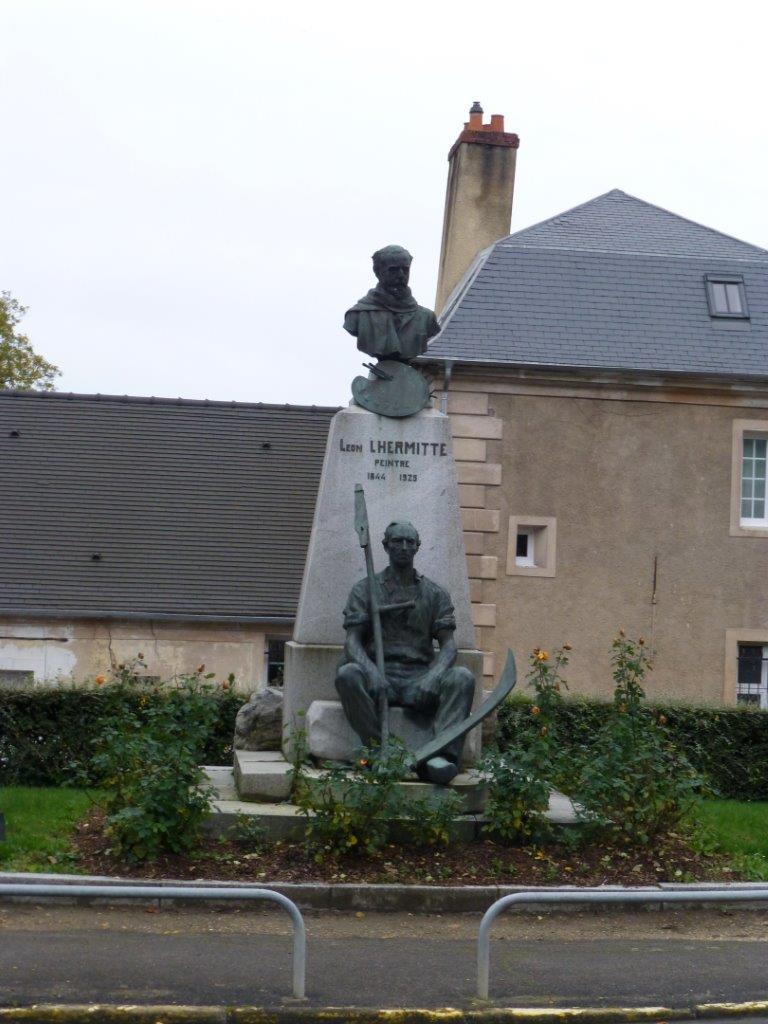 Le peintre Léon Lhermitte figure en bonne place dans le village de Mont-Saint-Père.