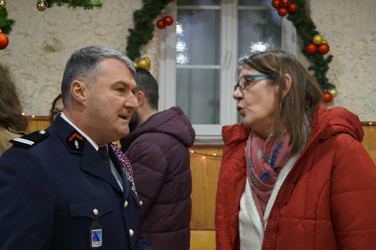 Pascal Le Cornec n'a pas manqué d'aborder le dossier de la nouvelle caserne avec Anne Maricot, la conseillère départementale du canton d'Essômes-sur-Marne.