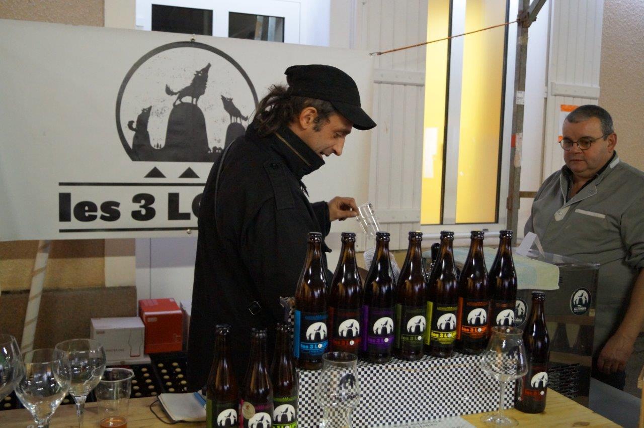...ou de bière artisanale, il y en avait pour tous les goûts.
