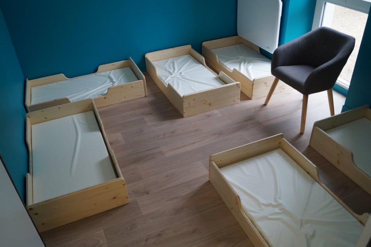 Le dortoir des grands permet de préserver le sommeil de chacun.