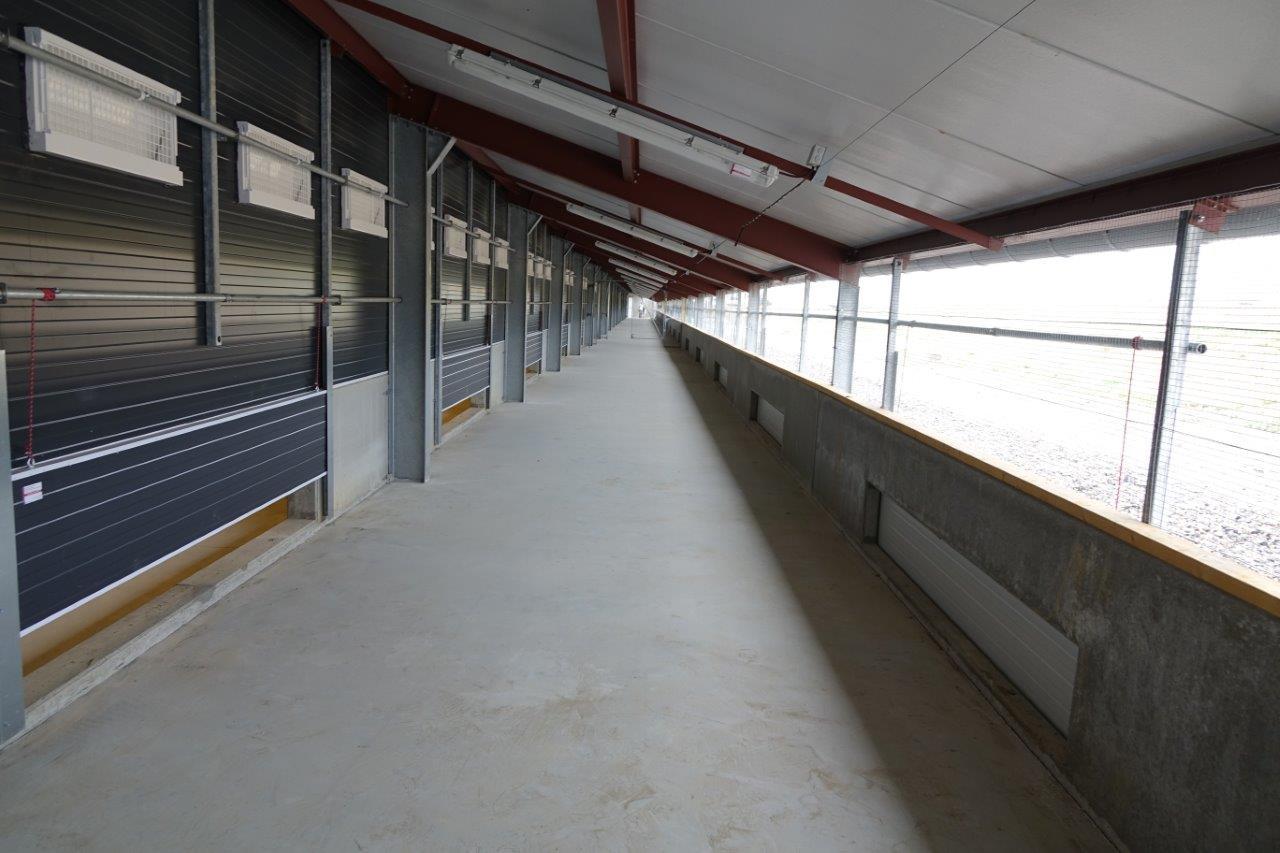 Une aire de promenade appelée, jardin d'hiver, sera utilisée par les poules au cours de la période hivernale.