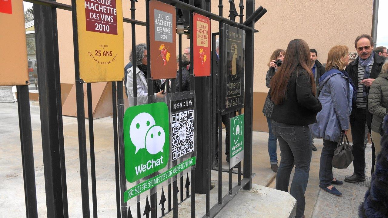 L'application WeChat revendique 846 millions d'utilisateurs en Chine et autant de touristes potentiels...