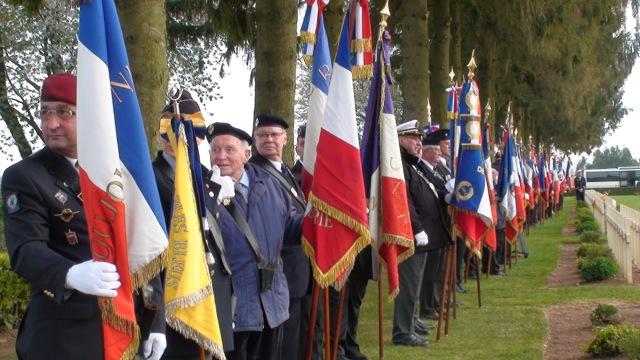 217 porte-drapeaux se sont retrouvés à Cerny-en-Laonnois.