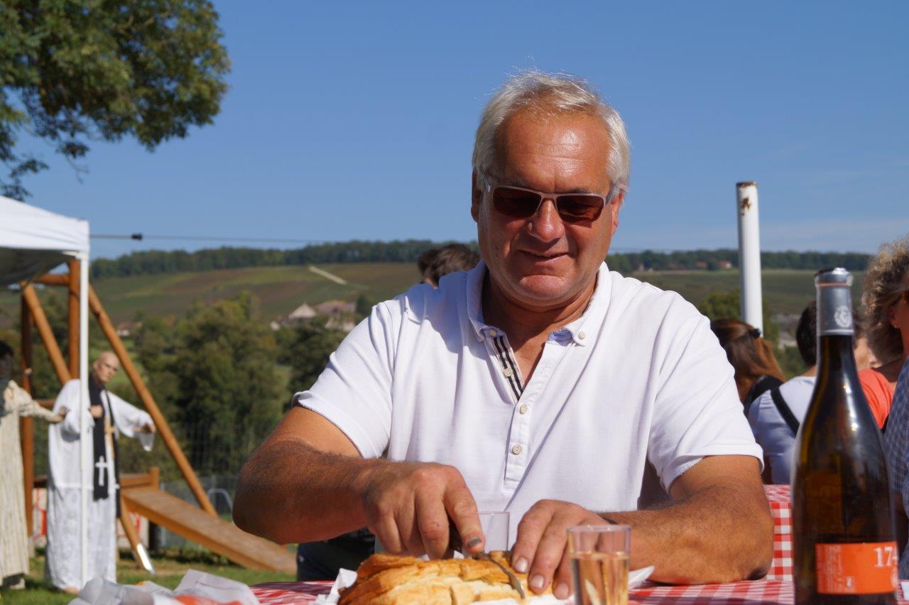 Le maire breuillois Didier Dépit en plein effort.