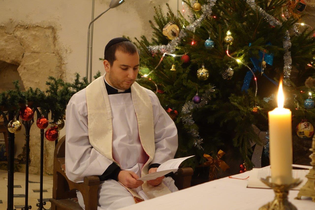 Le vicaire Jean-Christophe Bonnemain a célébré la Sainte-Barbe...