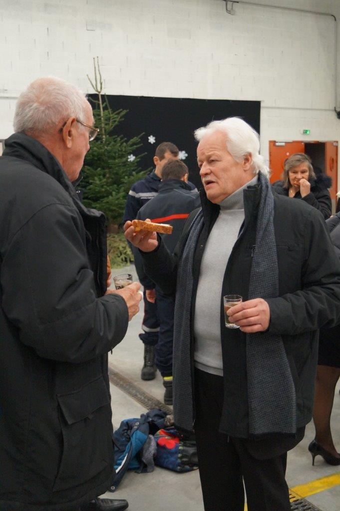 Samedi 9 décembre 2017, Gérard Goin représentait le maire de Dormans lors de la Sainte-Barbe.