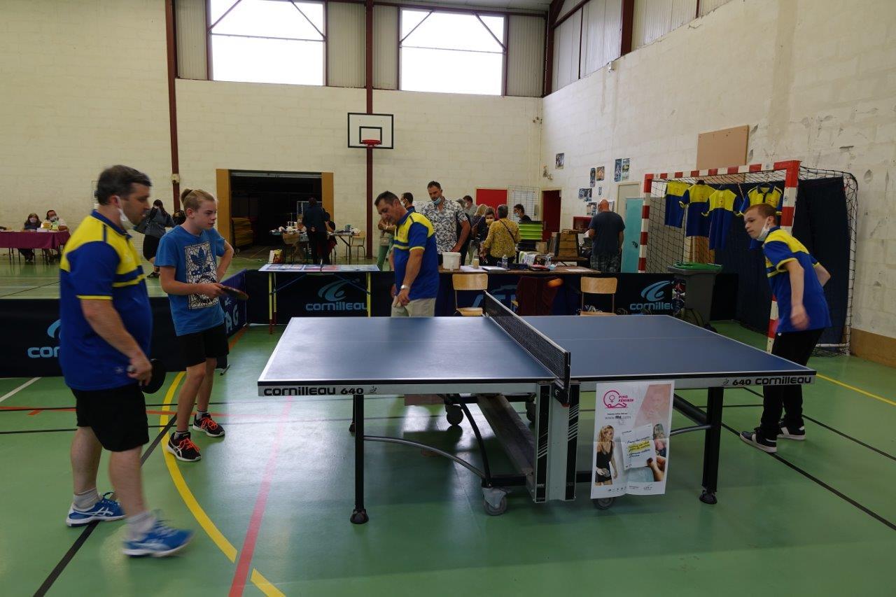 Le Tennis Club de Condé-en-Brie a proposé des rencontres tout au long de l'après-midi.