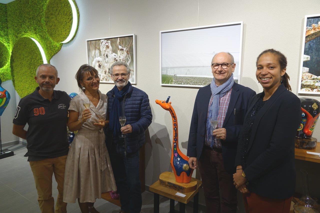 De gauche à droite : Franck Météyer, Anna Météyer, Michel Hirsch, Etienne Haÿ et Natalie William.