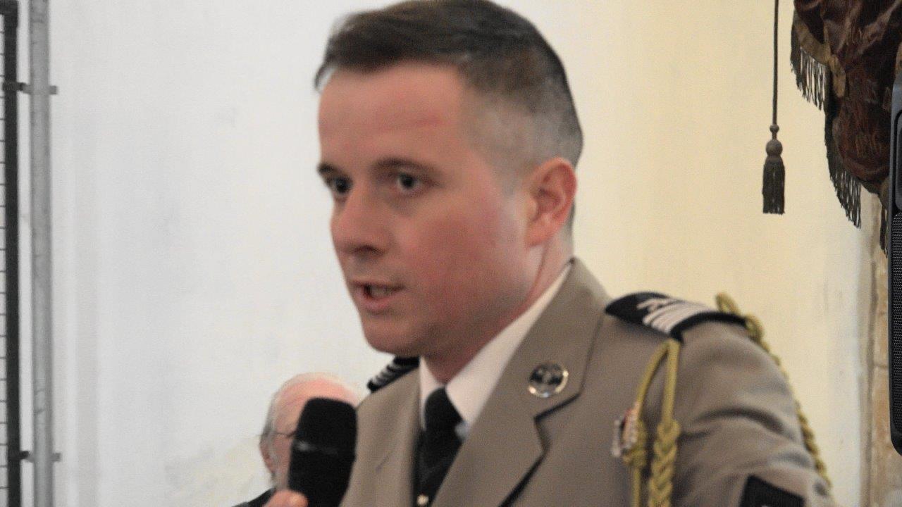 Le chef d'escadron Osmont a participé à trois mandats au Liban.