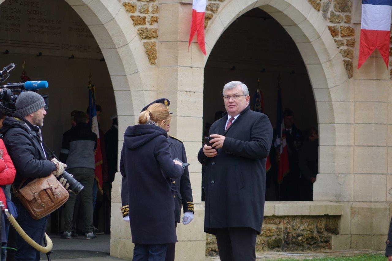 A droite : Christian Bruyen, président du Conseil départemental de la Marne.