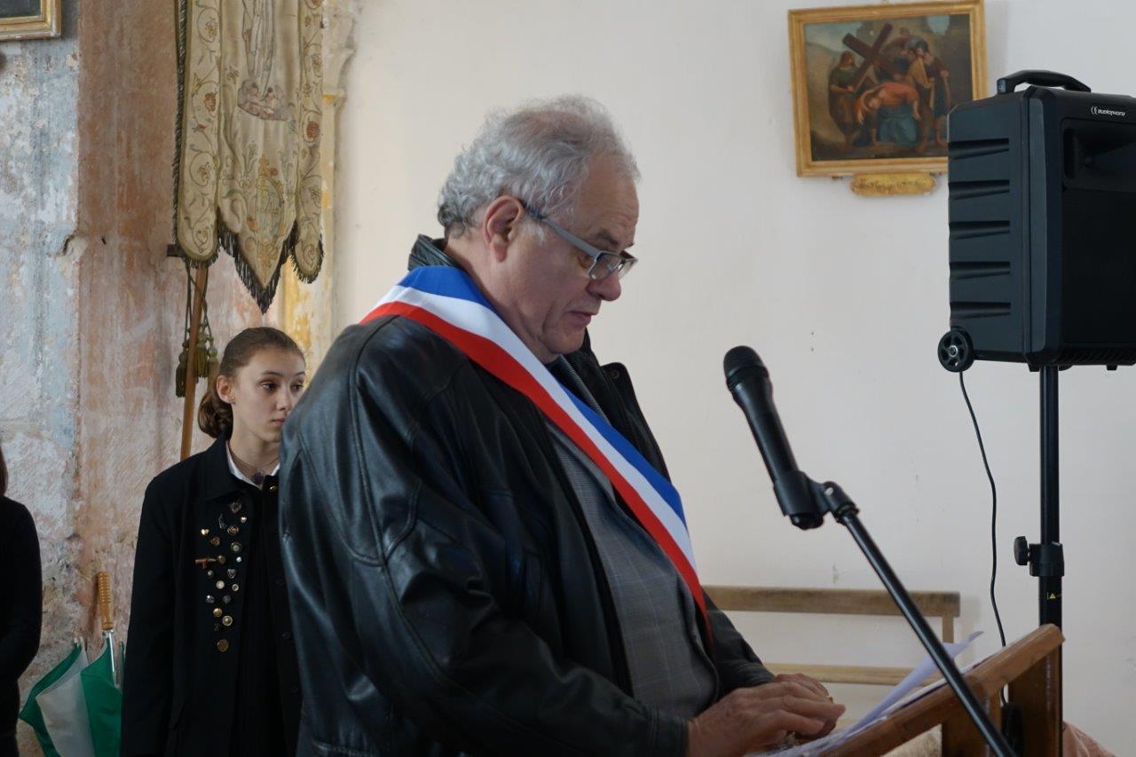 Jean-Jacques Drevet, maire de Marigny-en-Orxois, préside cette onzième cérémonie.