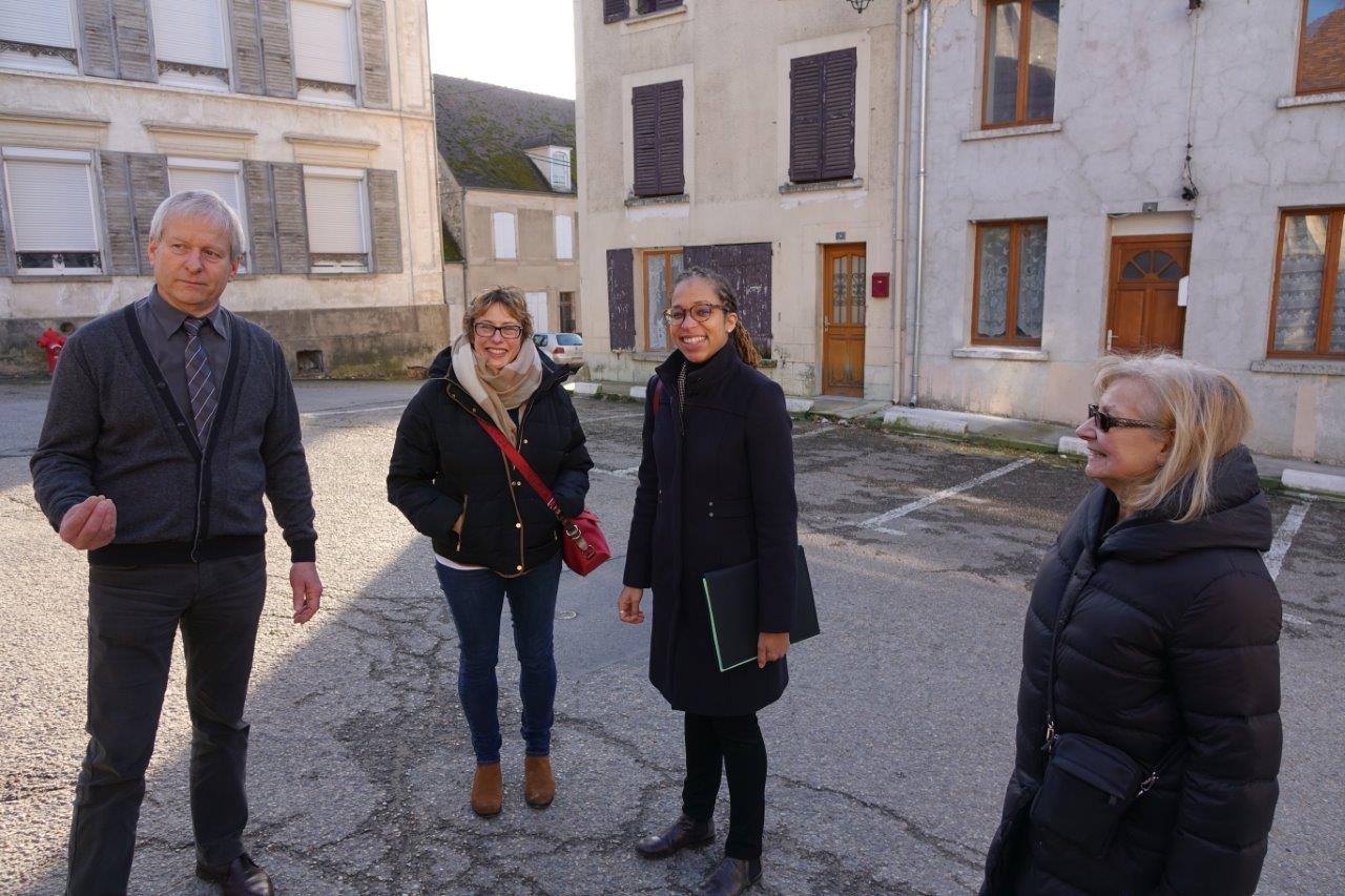 De gauche à droite : Eric Assier, Sandrine Martens-Laratte, Natalie William et Marie-Françoise Benoist.