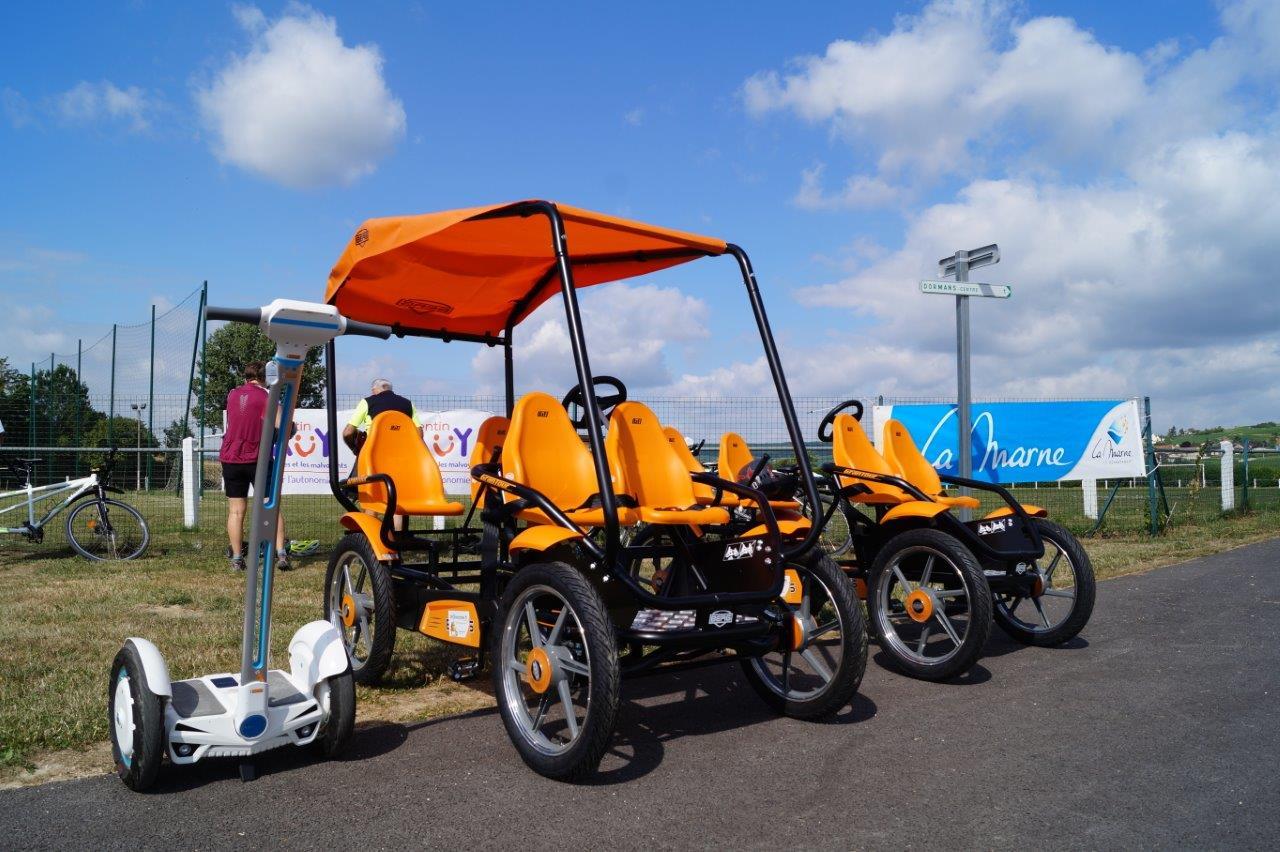 Rosalie ou Sebway : 2 moyens de locomotion pour parcourir la Véloroute en toute liberté.