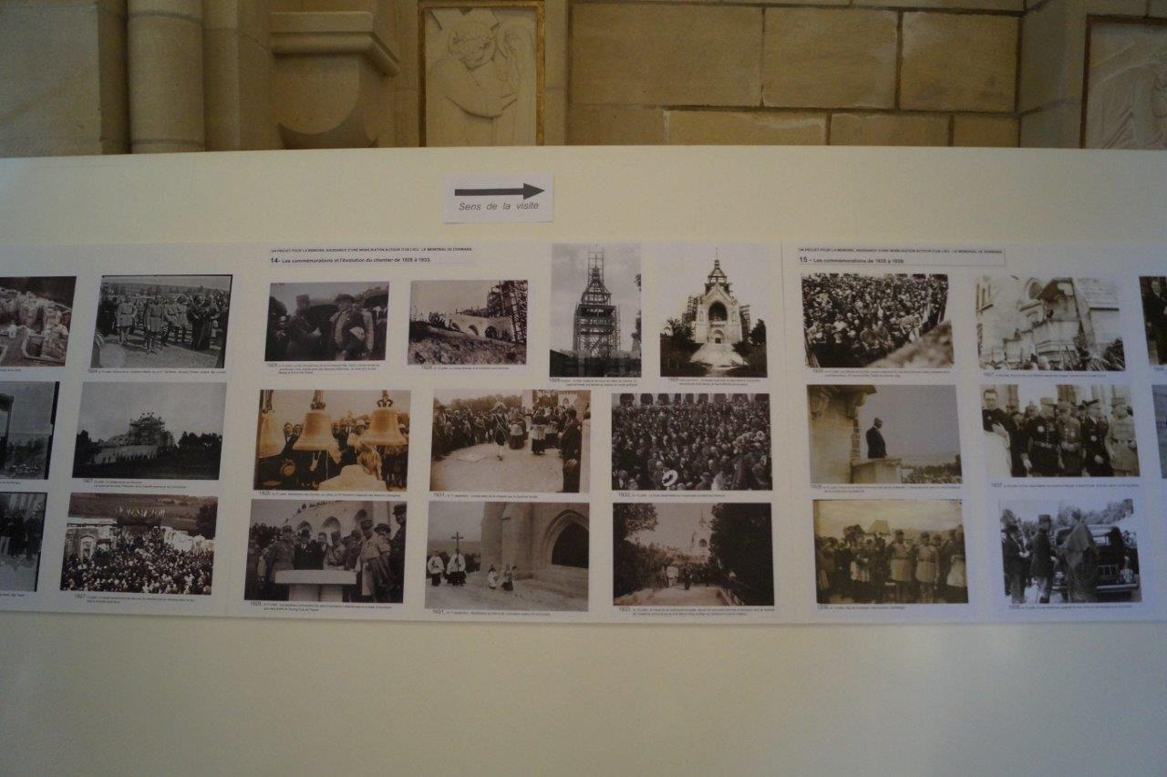 A l'intérieur de la Chapelle de la Reconnaissance, une exposition de grande qualité retrace la naissance d'une mobilisation autour du Mémorial. A voir absolument jusqu'en septembre.
