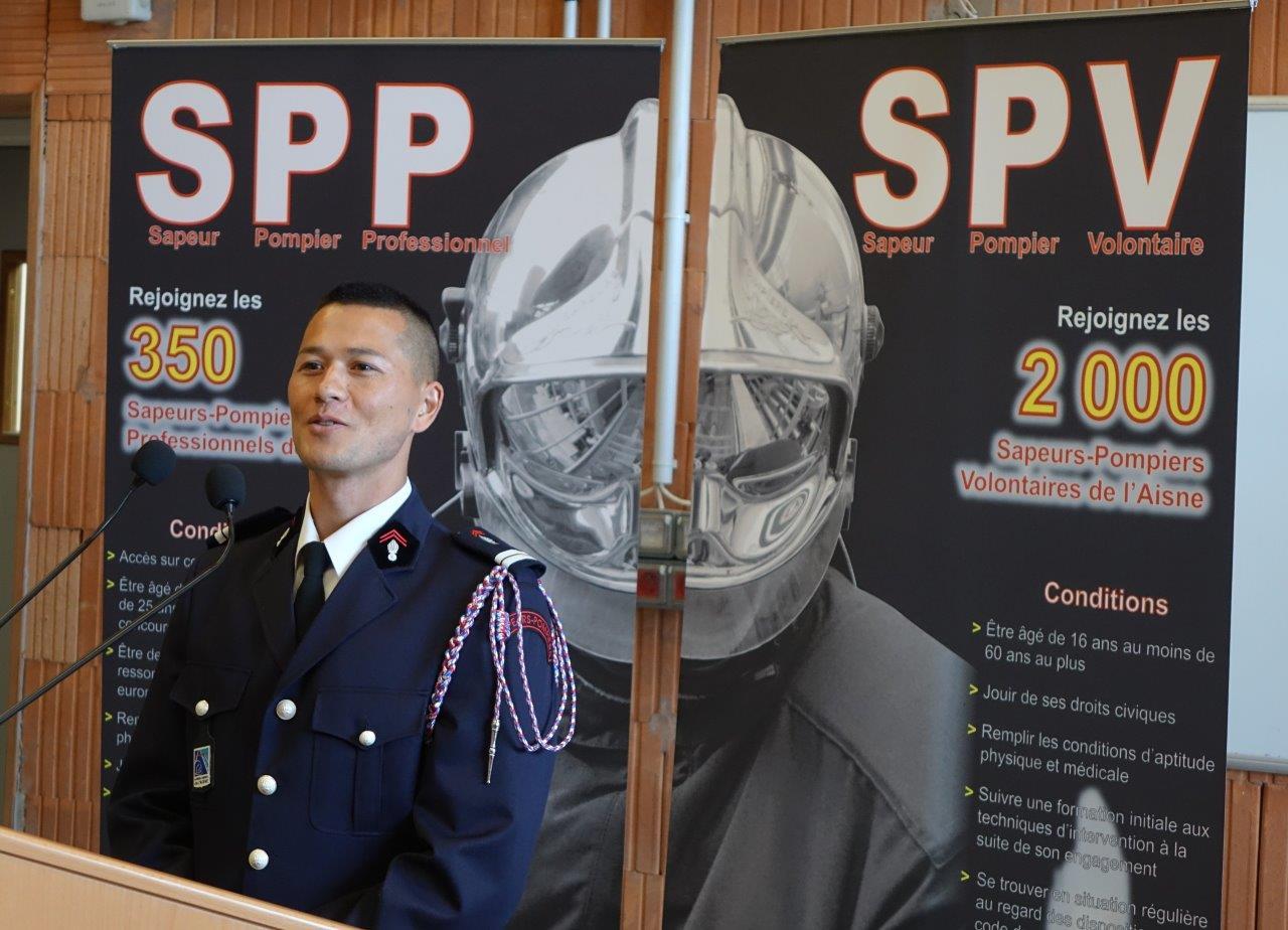 Le lieutenant Steeven Low est désormais le chef du centre de secours de Trélou-sur-Marne.