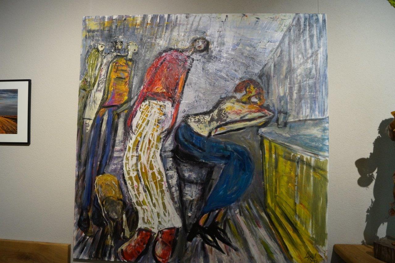 Une oeuvre du peintre Claude Legrand.