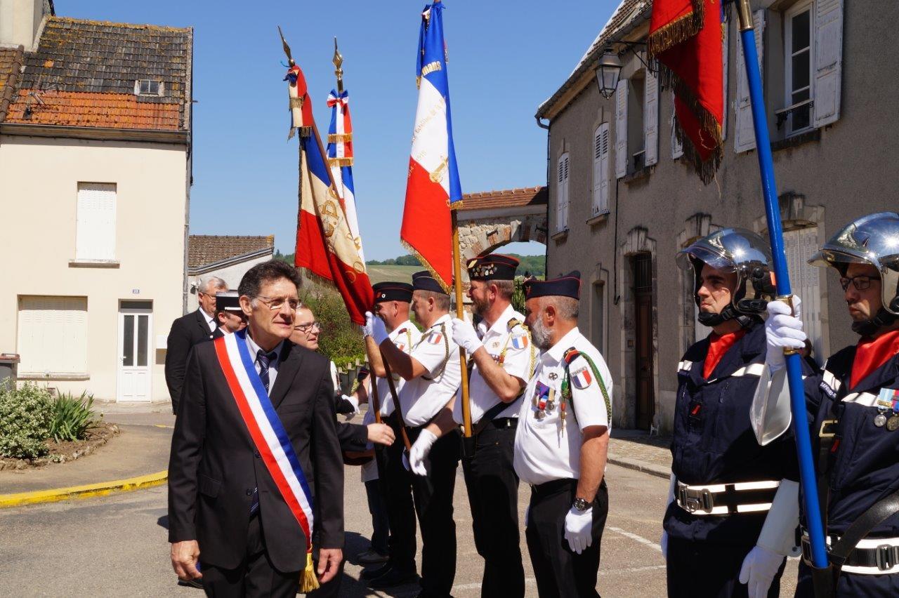 C'est la première cérémonie du 8 mai pour Michel Courteaux, élu maire de Dormans en novembre dernier en remplacement de Christian Bruyen.