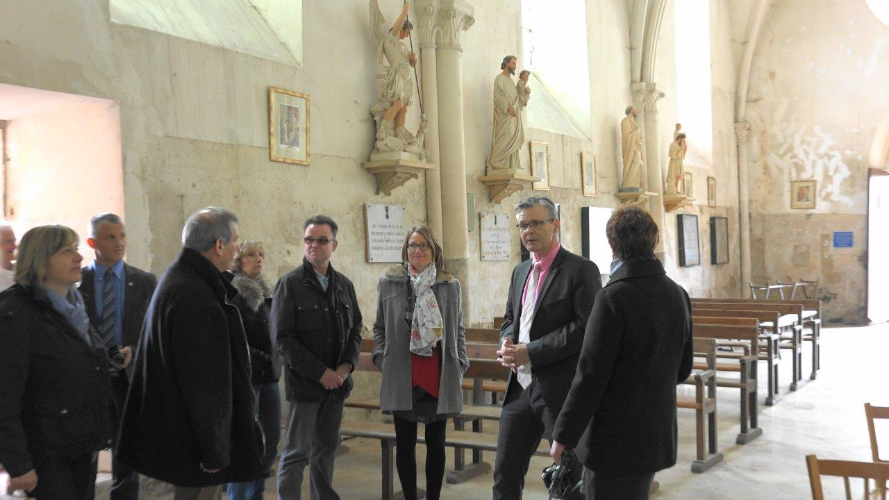 La Chapelle-Monthodon : visite de l'église de la Nativité de la sainte Vierge.