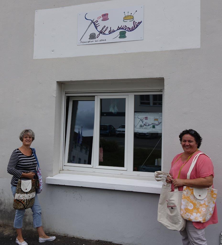 De gauche à droite : Thérèse Billion et Astrid Penot.