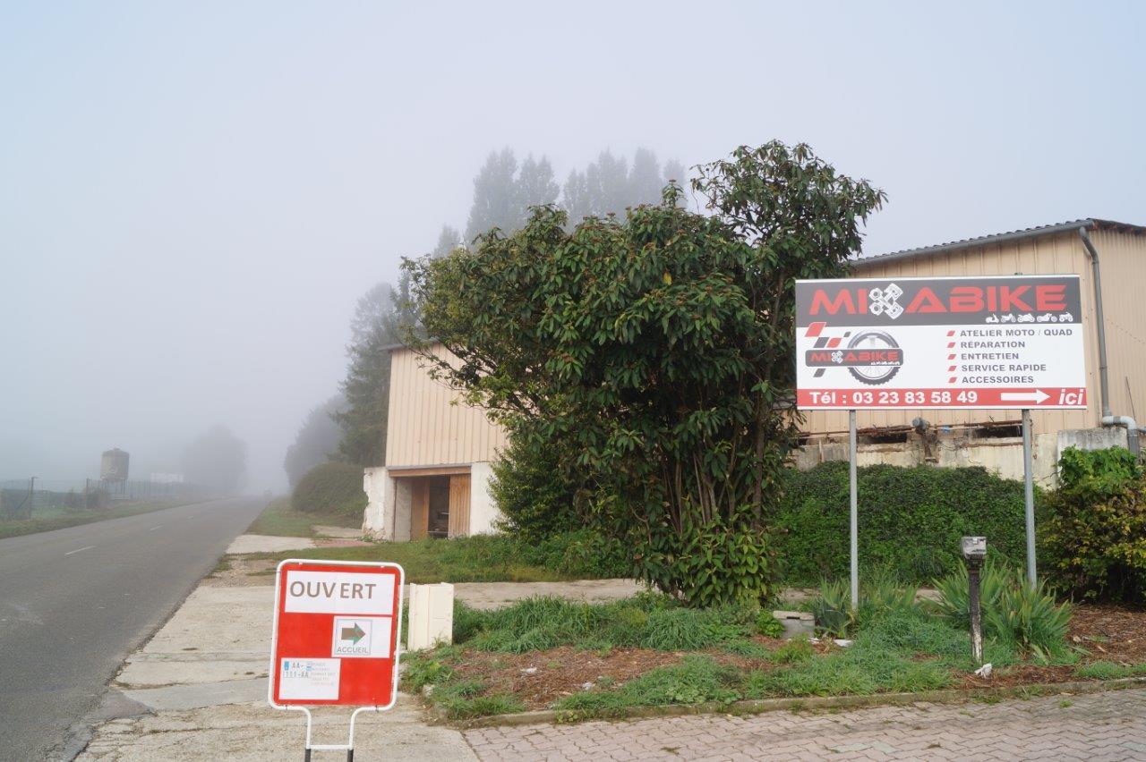 MIKABIKE est situé à Trélou-sur-Marne dans l'Aisne, tout près de Dormans... dans la Marne.