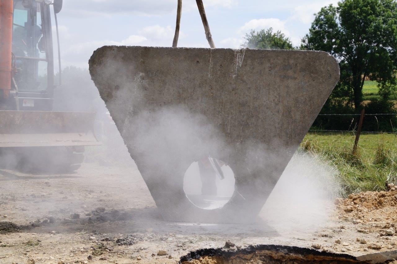 La préparation d'une tête de pont.