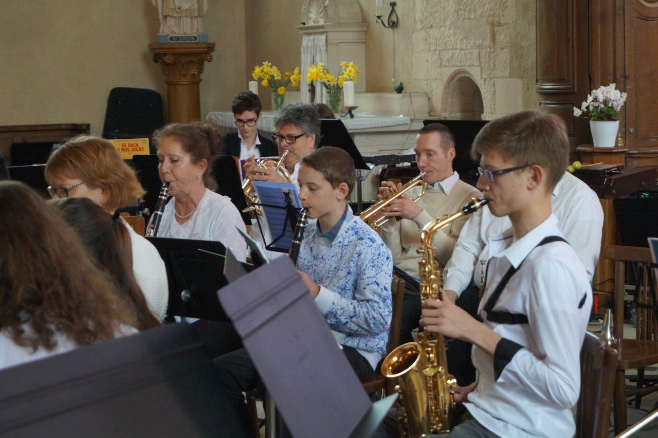 L'Ecole de musique de Crézancy/Jaulgonne a assuré la première partie du Concert de Printemps...