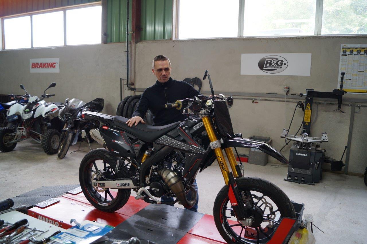 Michael Petitbon entretient et répare toutes les marques et cylindrées.