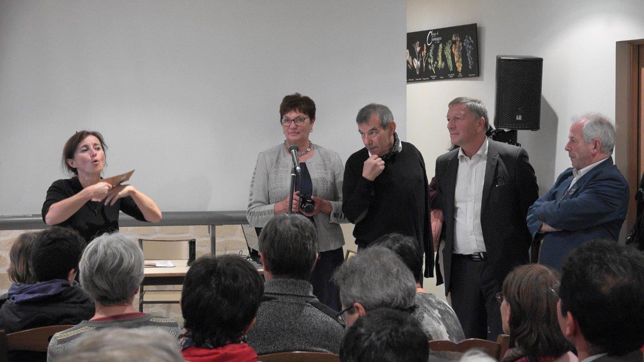 De gauche à Droite : Catherine Tambrun, Jacqueline Picart, Bruno Lahouati, Jacques Krabal et Claude Picart.