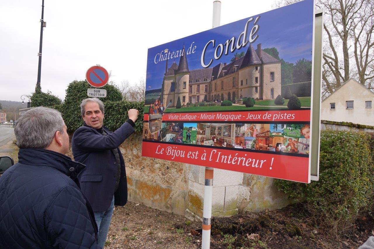 Timing oblige, Aymeri de Rochefort a présenté rapidement le château de Condé...