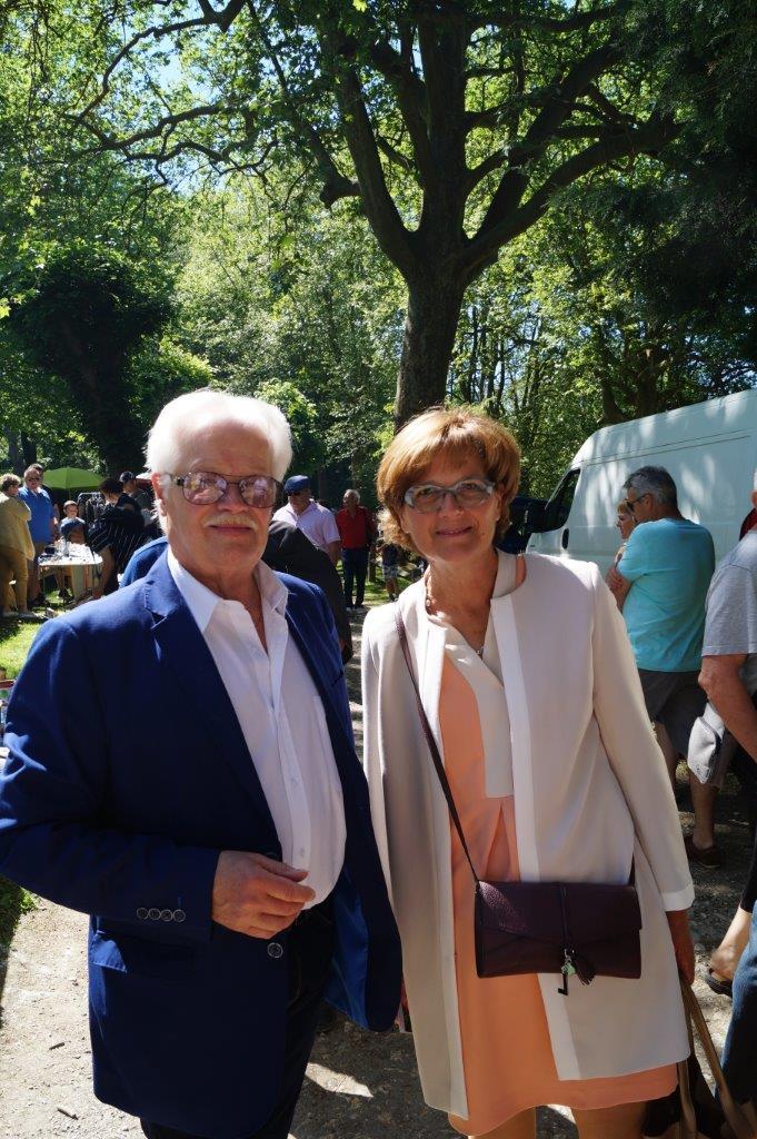 De gauche à droite : Gérard Goin et Rachel Paillard.