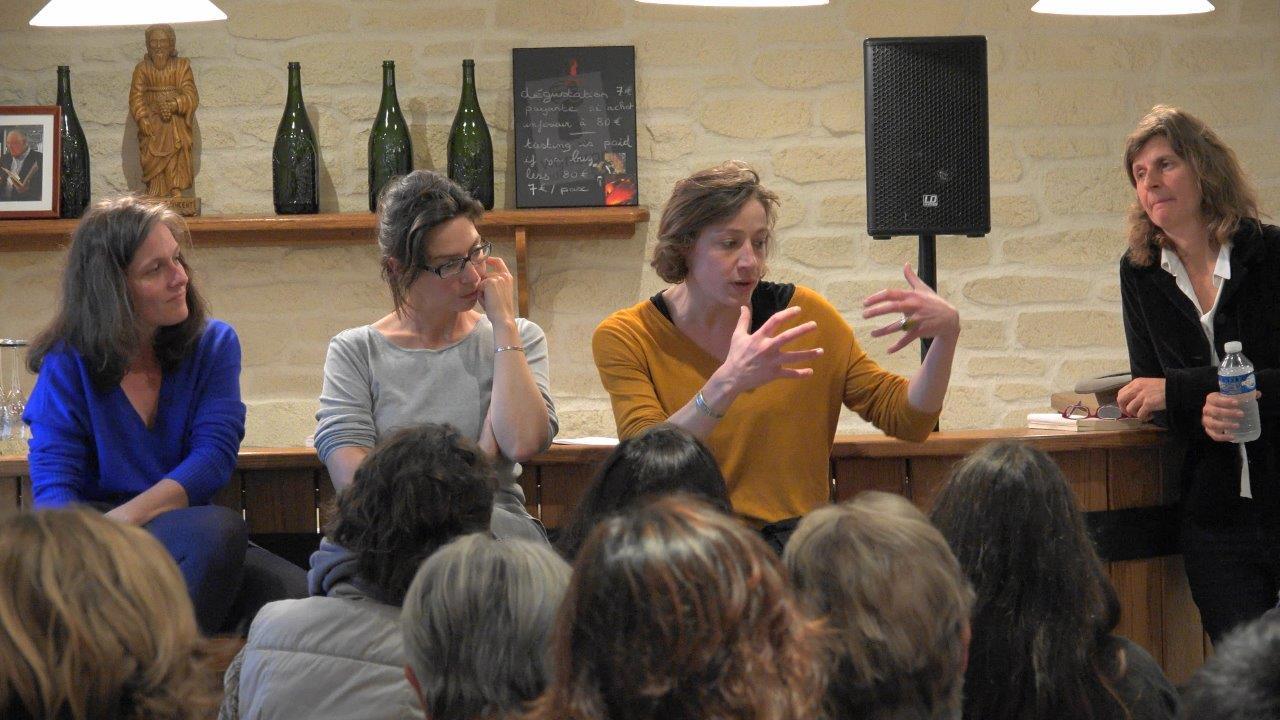 De gauche à droite : Natacha de la Simone, Jeanne Guyon, Julie Moulier et Olivia Rosenthal.