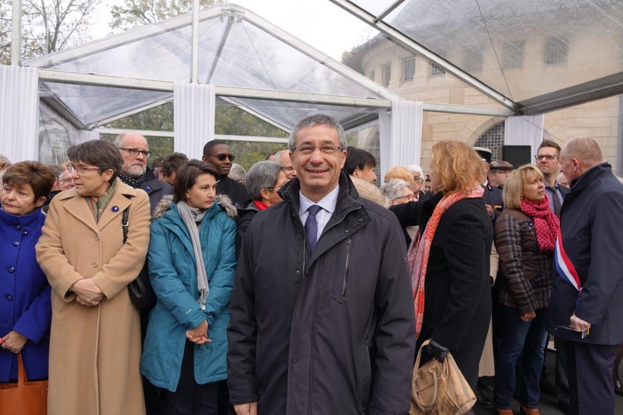 Nicolas Fricoteaux, président du Conseil départemental de l'Aisne, avait été invité à franchir la frontière administrative.