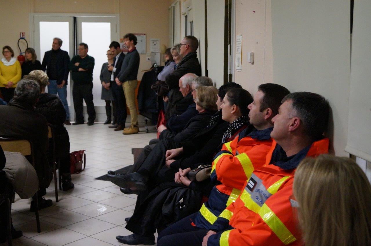 Les sapeurs-pompiers de Saint-Eugène ont écouté les intervenants avec beaucoup d'attention...
