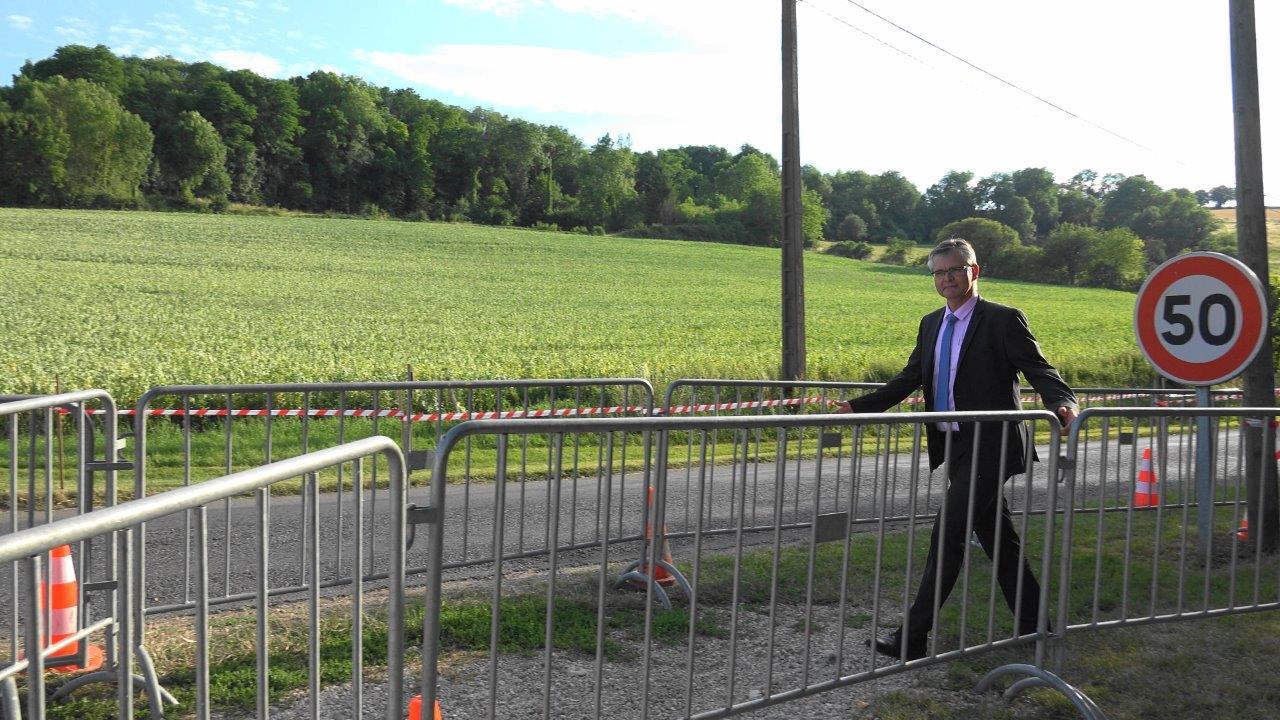 Le sous-préfet de l'arrondissement de Château-Thierry a trouvé facilement le chemin menant à Vallées-en-Champagne.