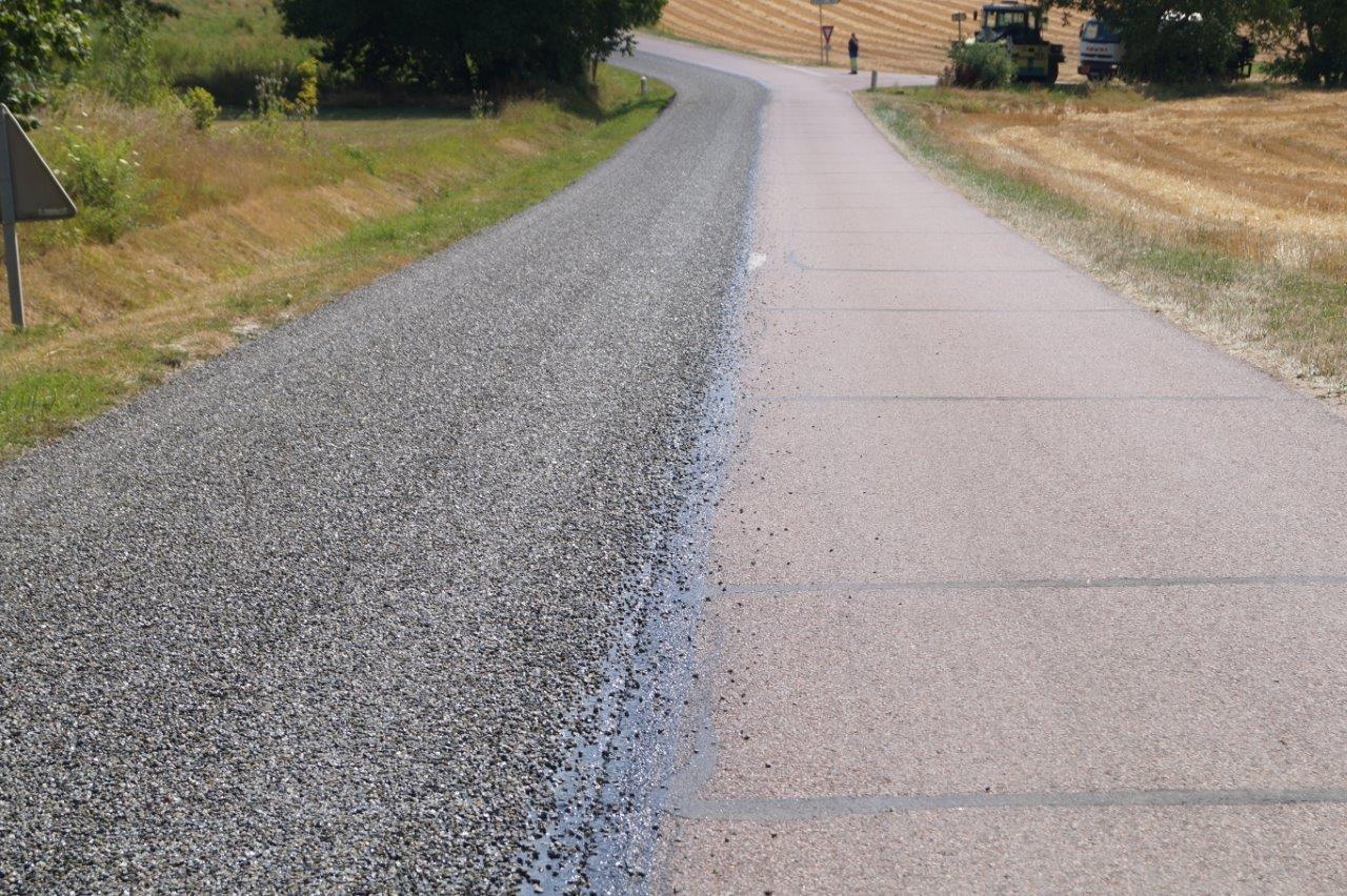 La circulation sur la RD20 est alternée pendant les travaux.
