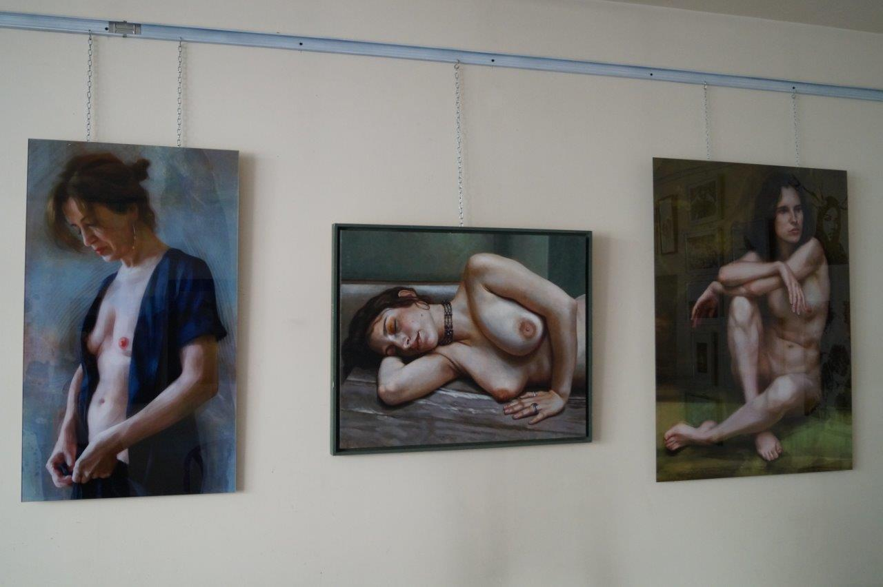 Monotype, gravure, pastel, poésie, peinture numérique, l'exposition d'art a su conquérir un public...